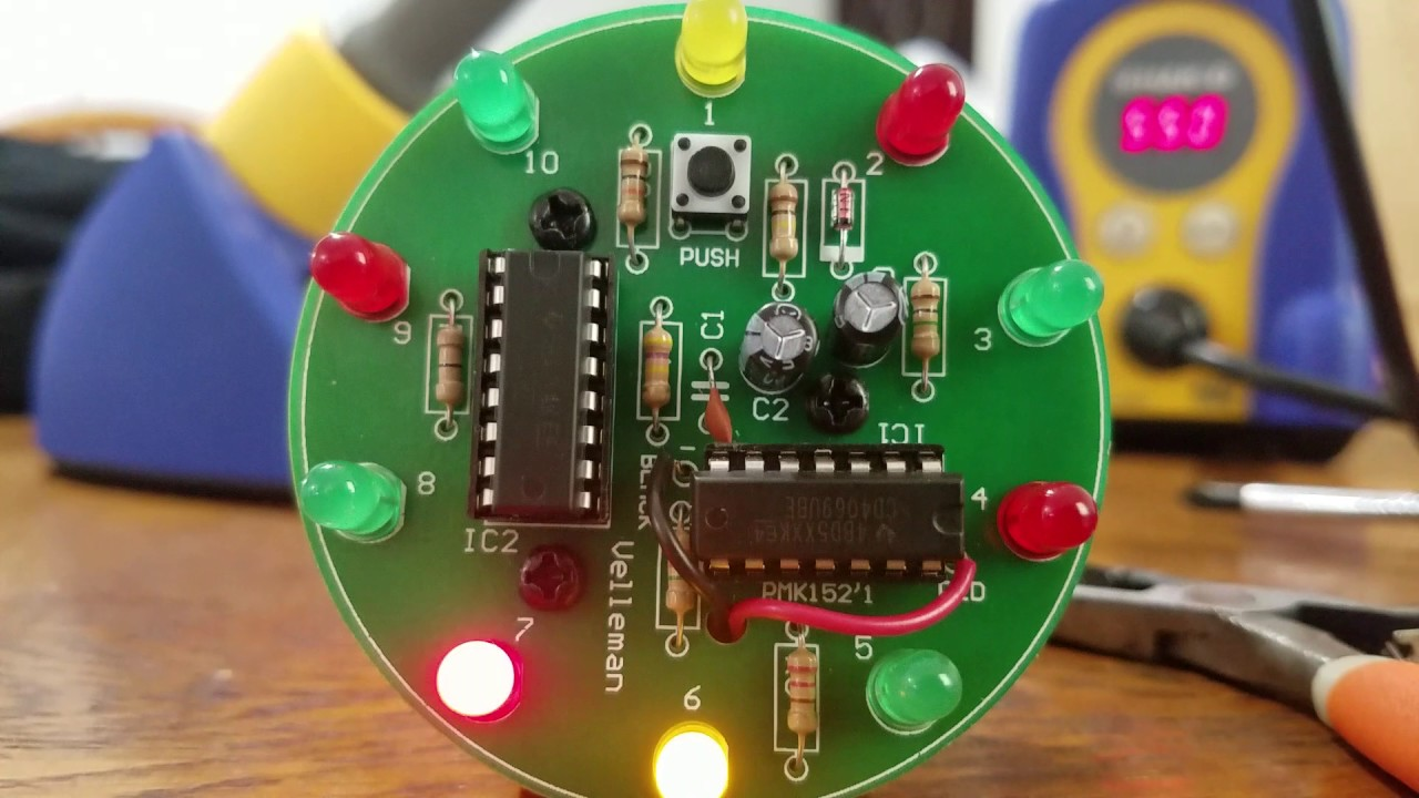Velleman Spinning Led Wheel Youtube Chasing Circuit Using At89c2051 Microcontroller