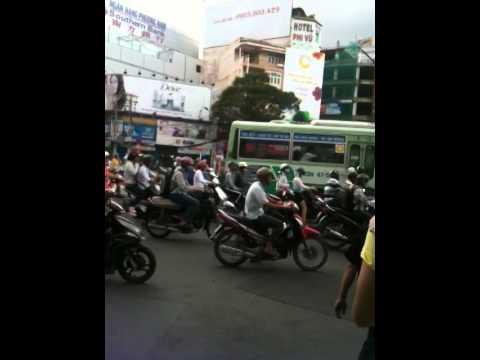 Ho Chi Min City, Vietnam - No traffic lights, you cross first....
