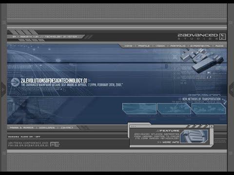 2Advanced Studios v2 flash website in 2001