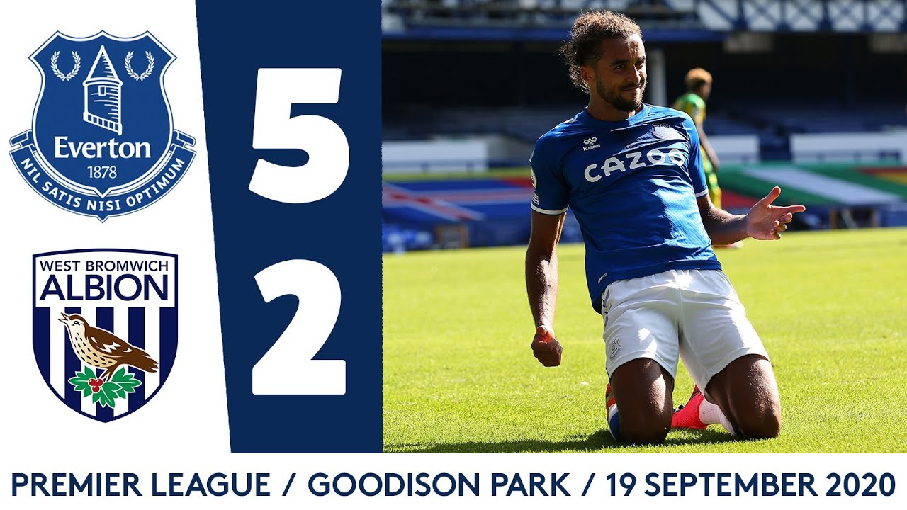 Everton 5 2 West Brom Dcl Hits Hat Trick As James Rodriguez Scores First Premier League Goal Youtube