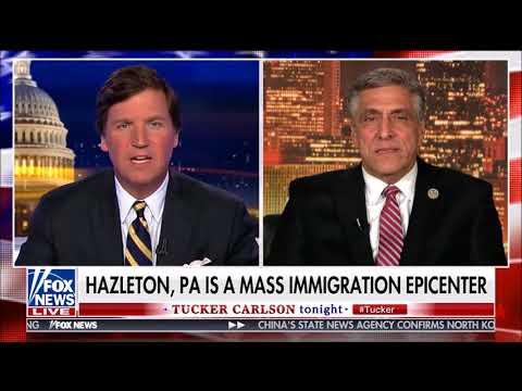 Former Mayor Lou Barletta Hazleton PA Mass Immigration on Tucker Carlson March 27 2018 HD 720p