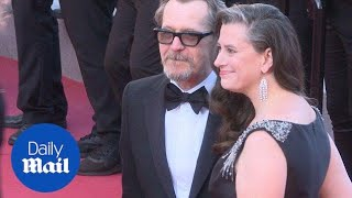Gary Oldman and wife Gisele Schmidt loved up in Cannes - Daily Mail