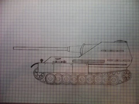 Как нарисовать танк Jg.Panther 2/ How to a draw tank Jg.Panther 2