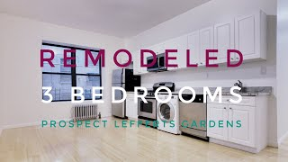 Remodeled 3 Bedrooms Apartment in Prospect Lefferts Gardens! Video Tour NYC Brooklyn