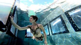 🧜♀️ Quarantined Mermaid in Crystal Clear Water Tank | Stella the Siren