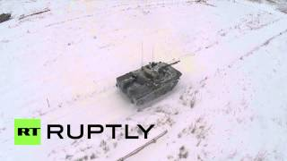 Russia: Drone captures Airborne Forces testing the new BMD-4M