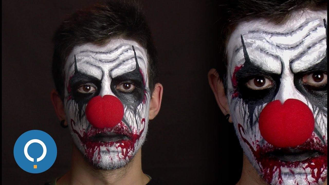 maquillage pour halloween clown diabolique youtube. Black Bedroom Furniture Sets. Home Design Ideas