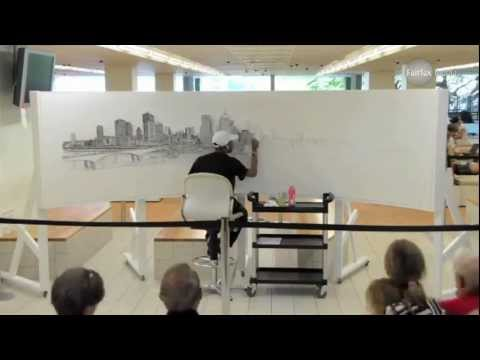 Time lapse of Brisbane Panorama by Stephen Wiltshire