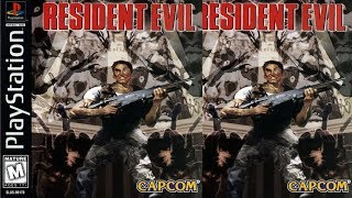 Resident Evil(1996) - Jill & Chris Playthroughs - PS1