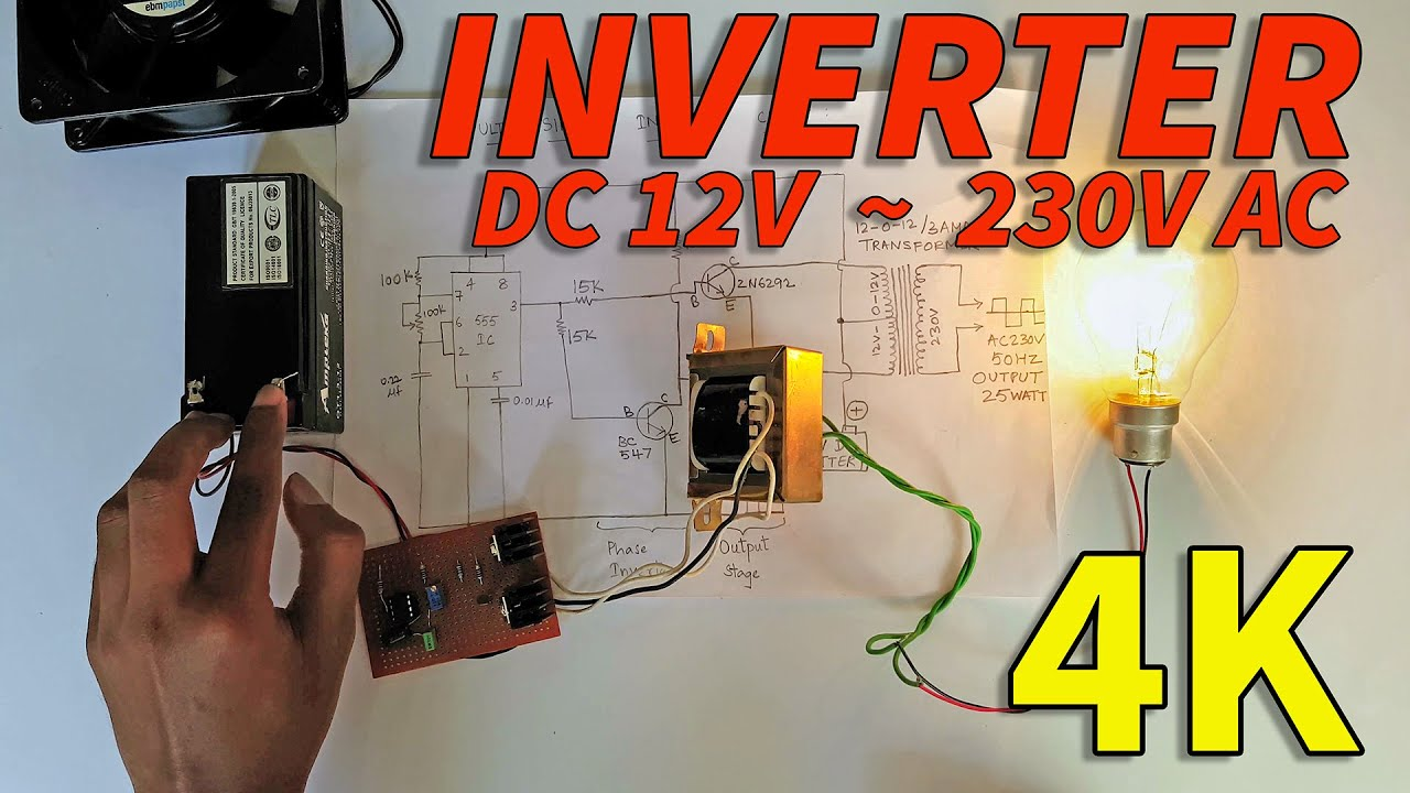 Simple Home Electrical Wiring Diagram Nissan Patrol Y61 Radio How To Make Inverter At - Very Easy Make! Youtube
