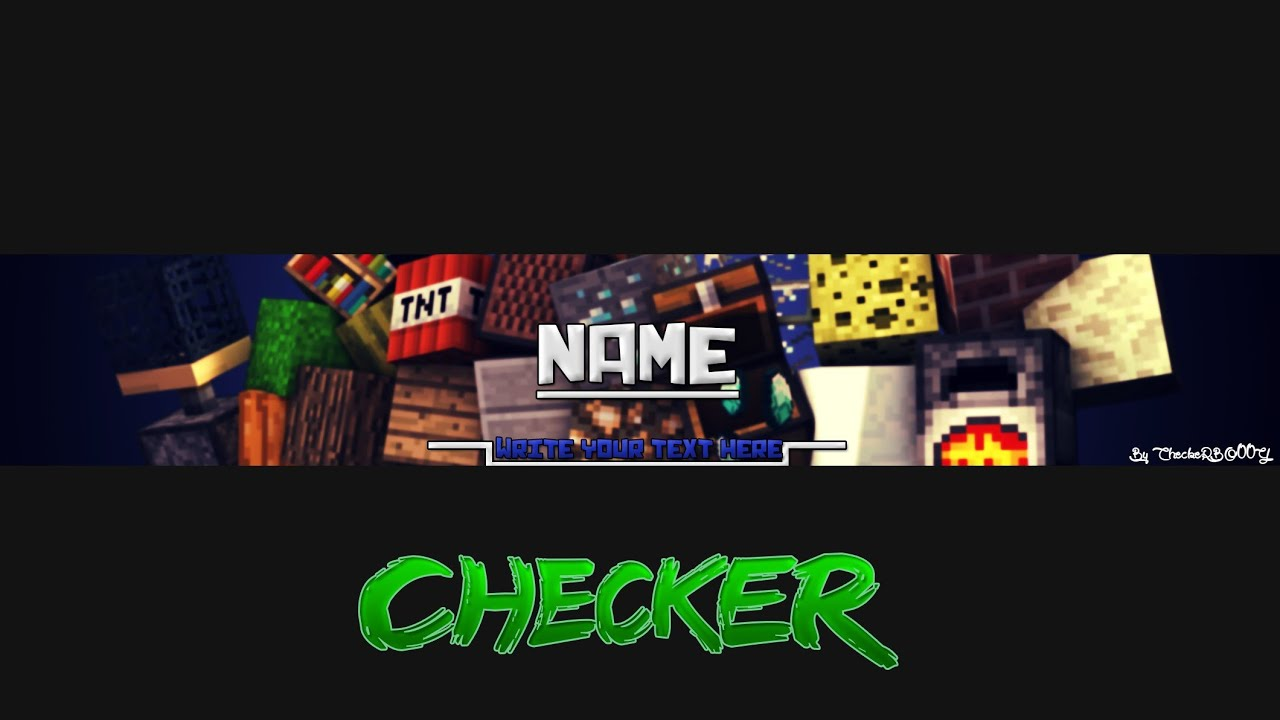 AMAZING MINECRAFT BANNER TEMPLATE FOR PHOTOSHOP [FREE] - YouTube