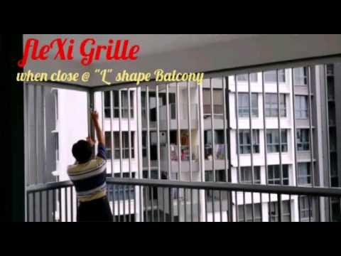 Flexi Grille When Close L Shape Balcony Youtube