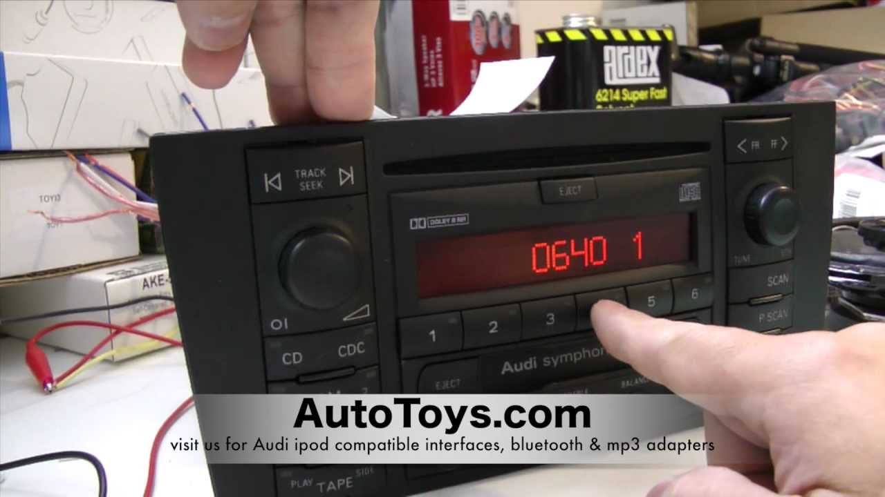 How to Unlock Audi Radio Code , READ SAFE MODE by AutoToys com (blitzsafe  vw / audi converter plug)