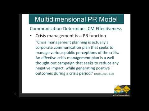 15 Crisis Management and Communication