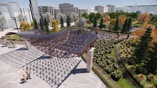 A new park with Canadian native plants, modelled with Lands Design