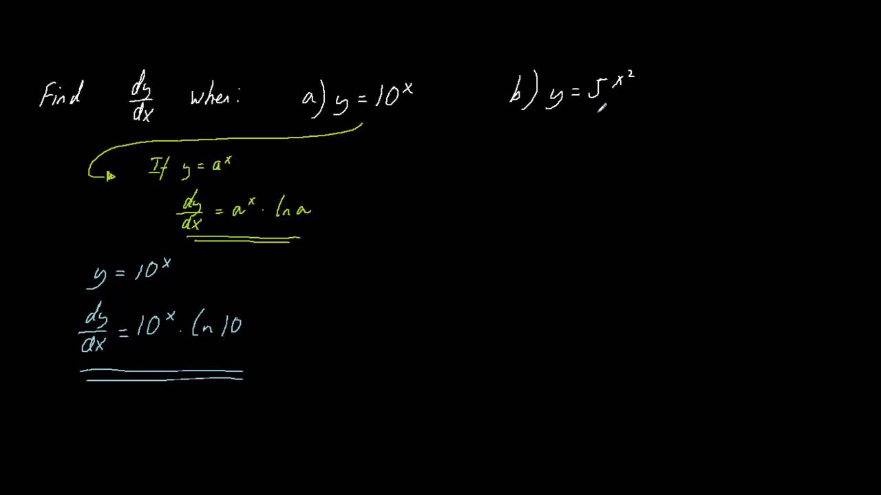 2 Tricky Differentiation Problems, One That Requires The Use Of The Chain  Rule
