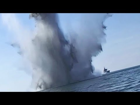 Minesweepers Detonate World War 2 Sea Mines In The Baltic Sea