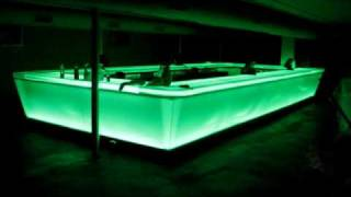 Custom Frosted Acrylic Bar Installed At Status Lounge, Houston, Texas