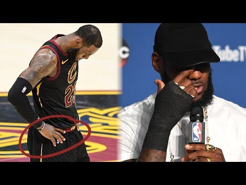 LeBron James Played In NBA Finals With A BROKEN HAND! | 2018 NBA Finals
