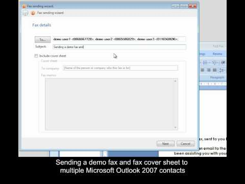 How to send a fax and including a fax cover sheet to imported MS - fax cover sheet microsoft