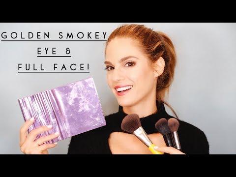 GOLDEN SMOKEY EYE & FULL FACE  GIVEAWAY!!