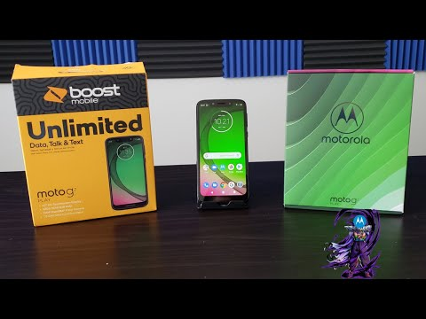 Moto G7 Play Unboxing and First Boot Up Boost Mobile