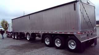 New Aluminum Grain Trailer Tri-Axle Center Lift Axle