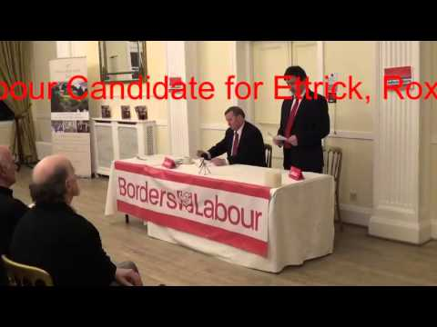 Barrie Cunning Scottish Borders Labour candidate for Ettrick, Roxburgh & Berwickshire
