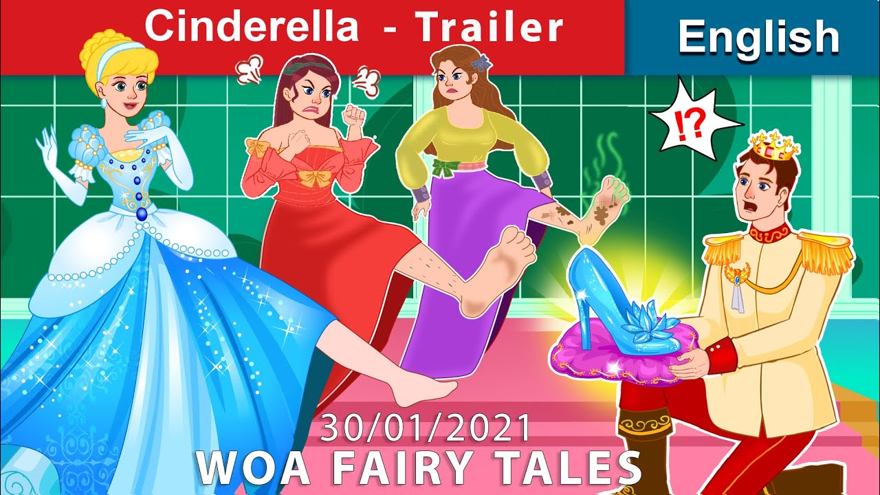 Cinderella 👠 Story in English [Trailer] Bedtime stories | Stories For Teenagers | WOA Fairy Tales