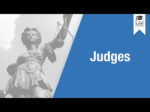English Legal System - Judges