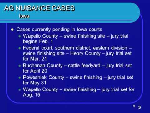 Eldon McAfee - Iowa Environmental Regulations & Nuisance Case Update