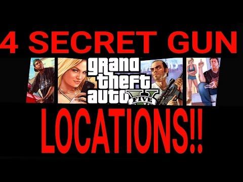GTA 5      4 SECRET GUN LOCATIONS!!!!!!
