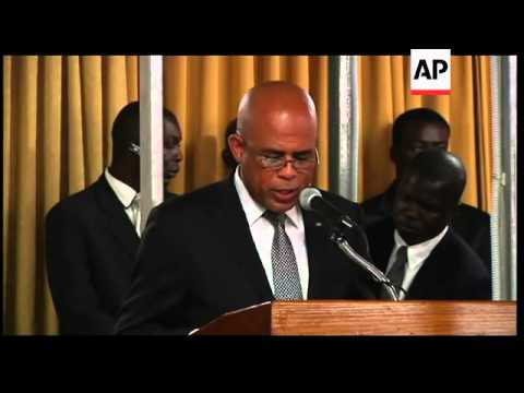 Martelly gives first state of union address, talks about quake reconstruction