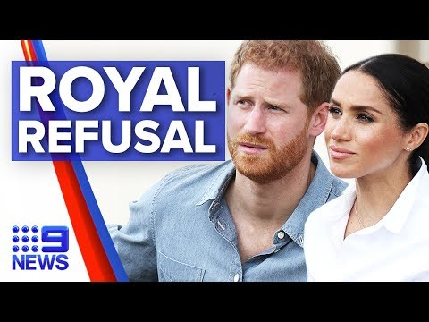 Canada Refuses To Pay For Harry, Meghan Security   Nine News Australia