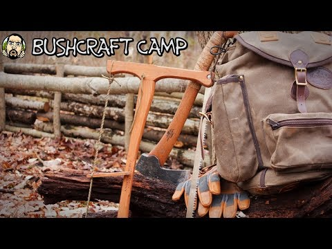 Making A Bushcraft Camp: Walls, Tripods (Part 2)