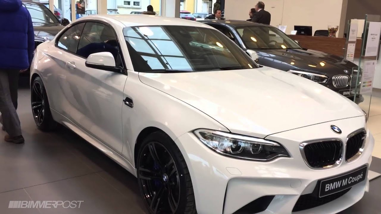 First bmw m2 in alpine white hits dealership in for Chrome line exterieur bmw