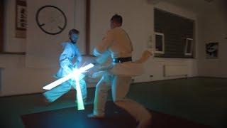 Jedi Adacemy - Lightsaber practice