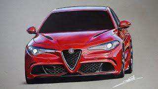 Alfa Romeo Giulia Quadrifoglio Drawing