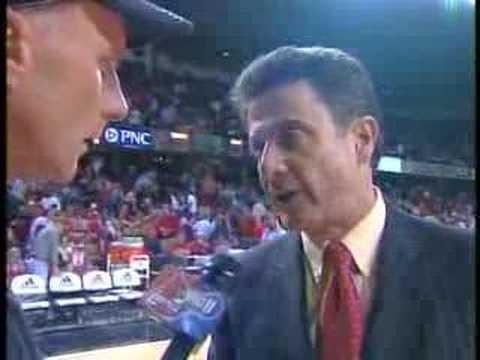 Rick Pitino halftime interview San Francisco