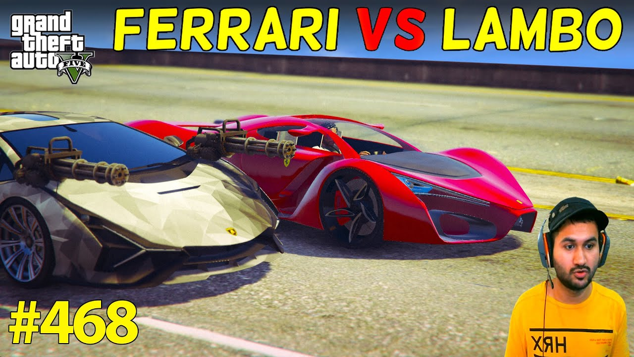 ROBOT FERRARI VS ROBOT LAMBORGHINI AMAZING RACE IN GTA 5 | GTA5 GAMEPLAY #468