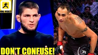 This is how Khabib reacted after his manager dismissed Tony Ferguson fight,Woodley vs Usman,Rockhold