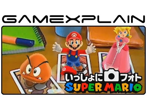 Photos with Super Mario - Mario AR Cards 3DS Gameplay Footage (Japanese Nintendo Direct)