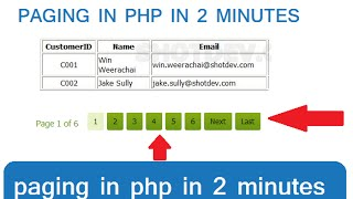 how to create paging,pagination in php in 2 minutes Mp3
