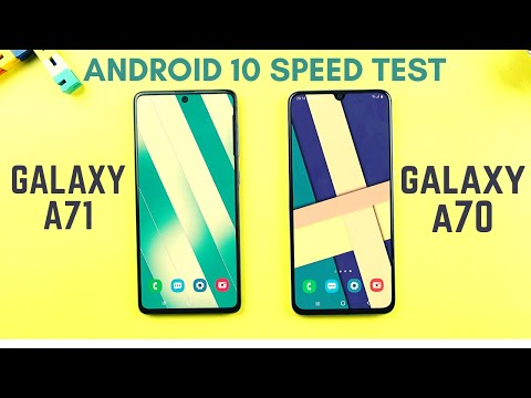 Samsung Galaxy A71 Vs A70 Android 10 Speed Test & Comparison