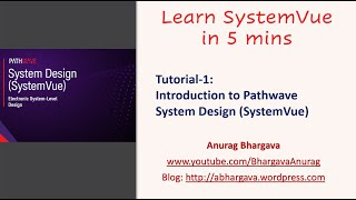 Tutorial 1 What Is Pathwave System Design Systemvue Youtube