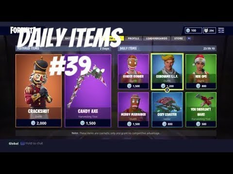 All The Christmas Skins In The Item Shop Fortnite Battle Royale