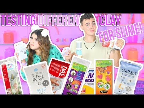 TESTING DIFFERENT CLAY FOR SLIME   Daiso, delight, ect   Ultime butter slimes   Slimeatory #67
