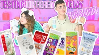 TESTING DIFFERENT CLAY FOR SLIME | Daiso, delight, ect | Ultime butter slimes | Slimeatory #67