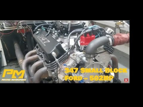 Scott's 500 horsepower 347 small block Ford on the dyno