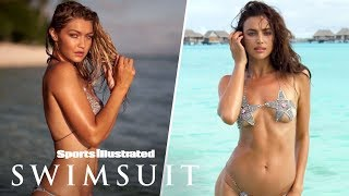 Gigi Hadid Glows, Irina Shayk Swims With The Sharks In Tahiti | On Set | Sports Illustrated Swimsuit